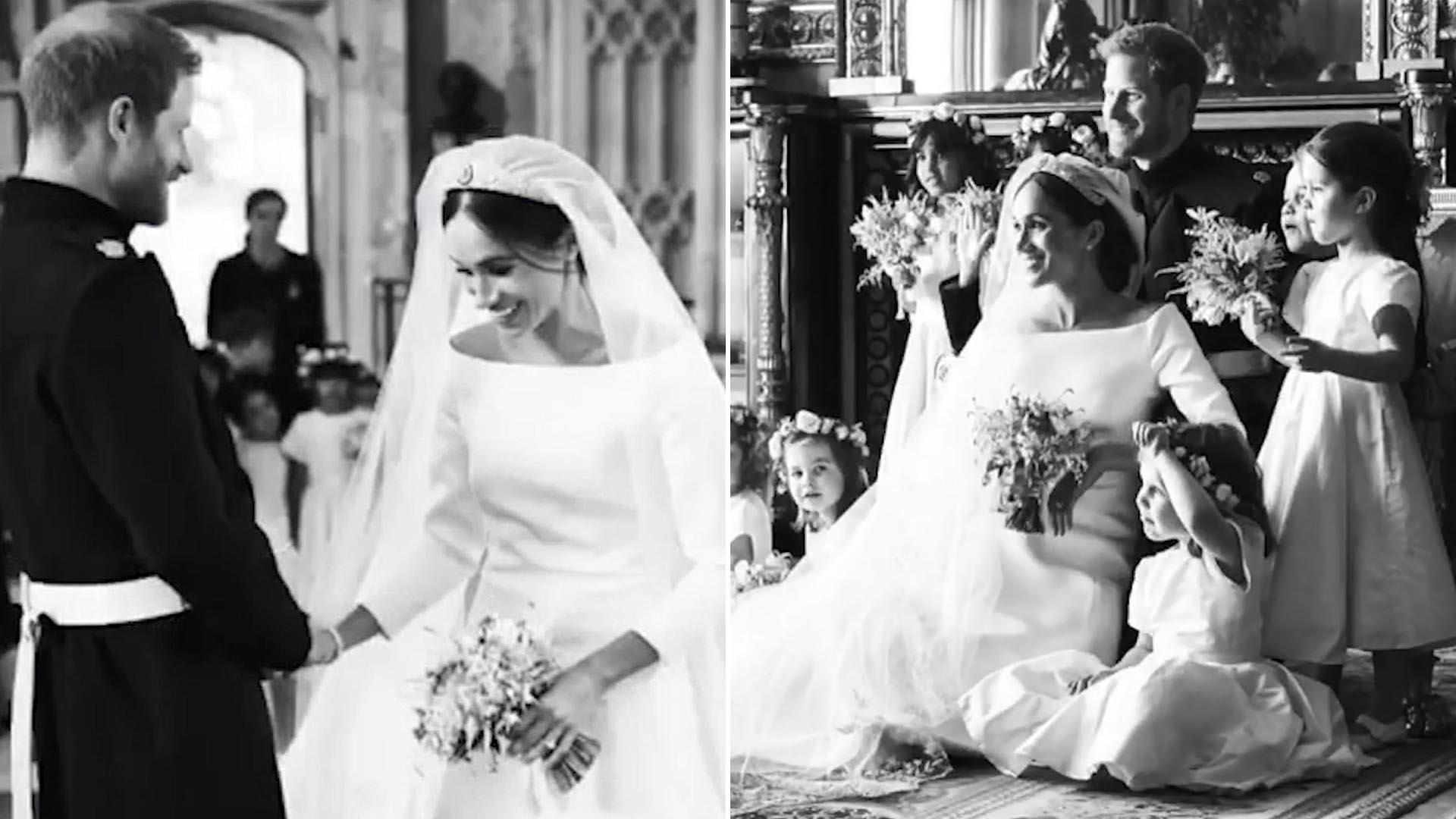 Los duques de Sussex compartieron un clip de su casamiento en Instagram