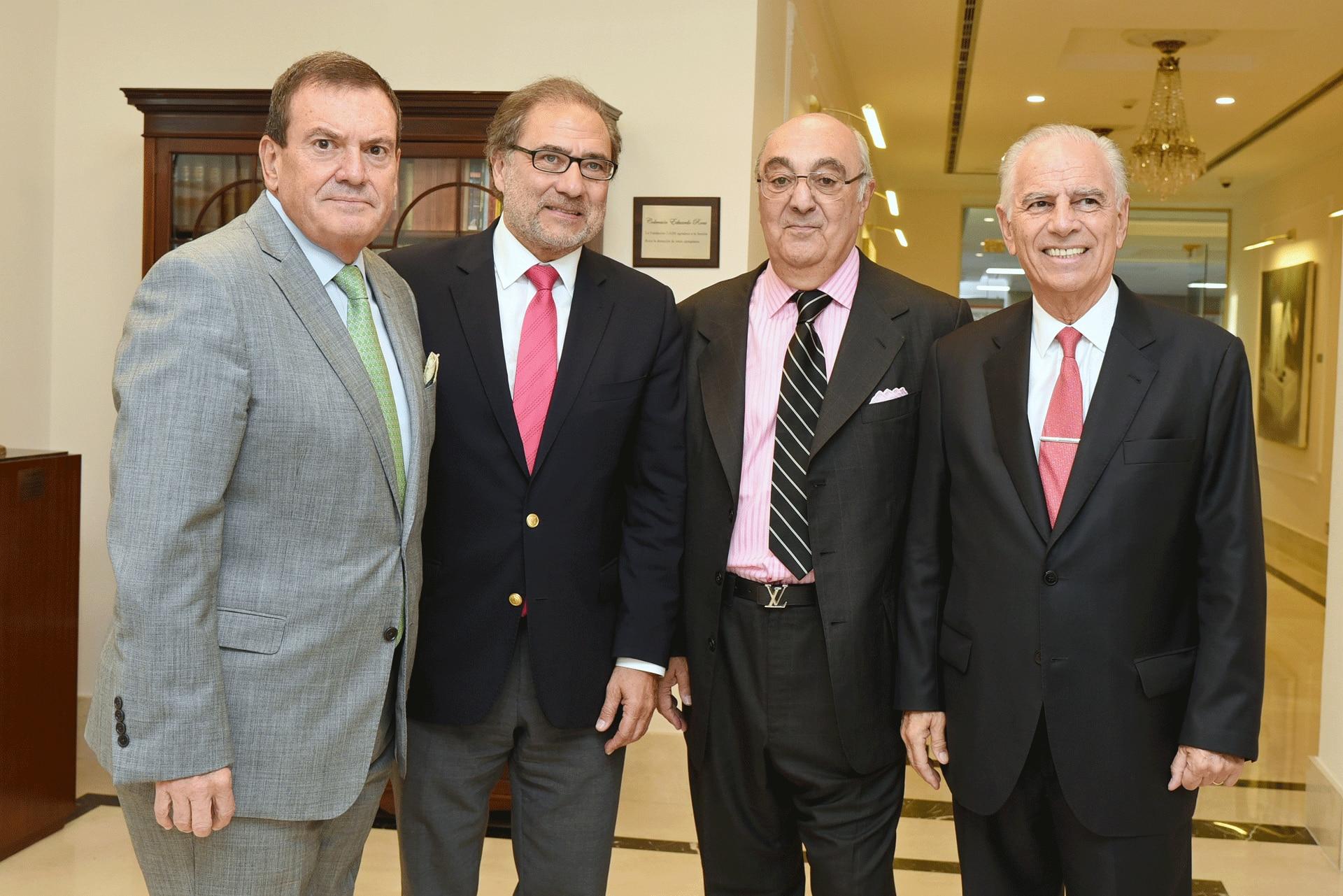 Héctor Masoero, Jorge Argüello, Jorge Aufiero y Alejandro Bulgheroni