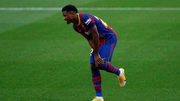 Dura lesión de Ansu Fati y preocupación en el Barcelona de Messi: se rompió el menisco interno de la rodilla izquierda